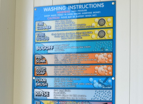 D&S Self Serve Car Wash In Bay Signage